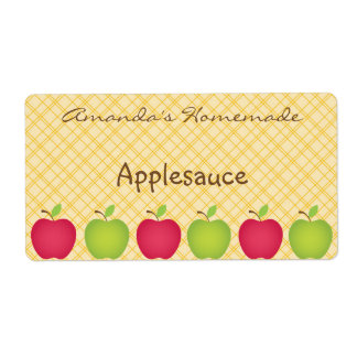 Personalized Apple Themed Canning Label Shipping Label