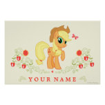 Personalized Applejack Poster