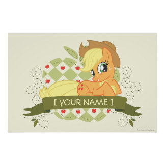 Personalized Applejack Tee Posters