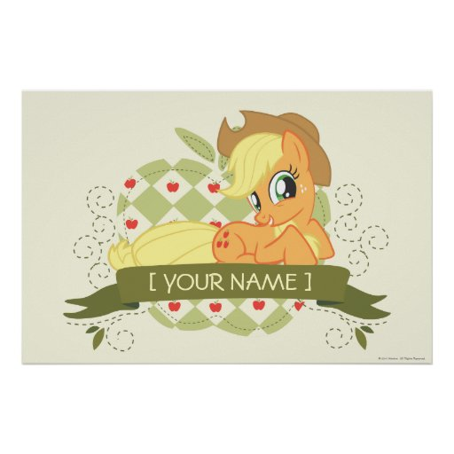 Personalized Applejack Tee Poster