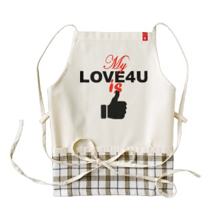"""Personalized Apron  """"My Love For You Is Perfect"""""""