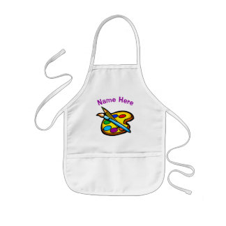 Personalized Aprons for Kids with Paint Pallet