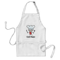 Personalized aprons with chef name