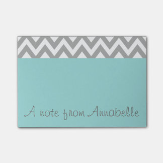 Personalized Aqua Post It Notes Post-it® Notes