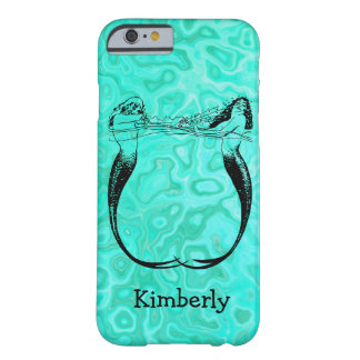 Personalized Aqua Splash Mermaids Playing Barely There iPhone 6 Case