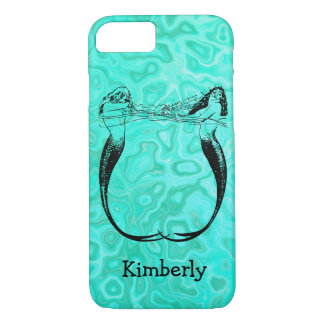 Personalized Aqua Splash Mermaids Playing iPhone 8/7 Case