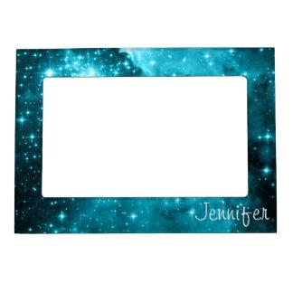 Personalized Aqua Stars Magnetic Frames