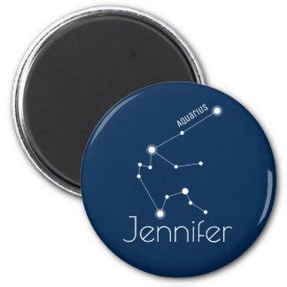 Personalized Aquarius Zodiac Constellation Magnet