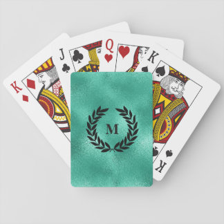 Personalized Aquatic Mint Green Playing Cards