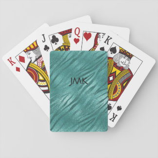 Personalized Aquatic Tiger Jungle Playing Cards