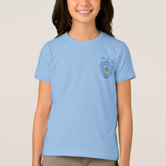 Personalized Argentina Sport Jersey Girls Ringer T T-Shirt