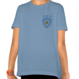 Personalized Argentina Sport Jersey Girls Ringer T Tees