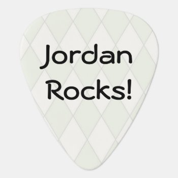 Personalized Argyle Guitar Pick by lou165 at Zazzle