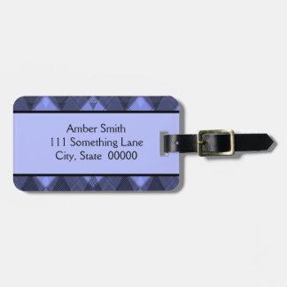 Personalized Argyle Pattern Luggage Tag