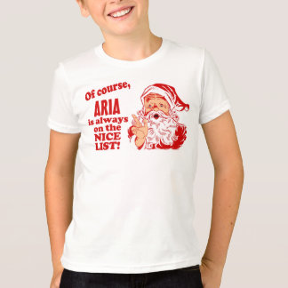 Personalized Aria Christmas T-Shirt