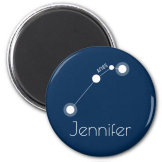Personalized Aries Zodiac Constellation Magnet