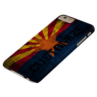 Personalized Arizona Flag Vintage Grunge Barely There iPhone 6 Plus Case