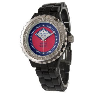 Personalized Arkansas State Flag Design Decor Wrist Watch