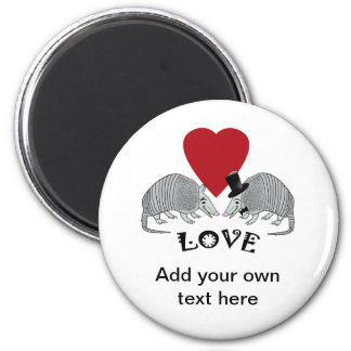 Personalized Armadillo Love Magnet