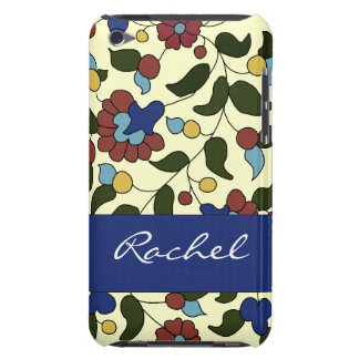 Personalized Armenian flowers - Blue & Cream iPod Touch Cases