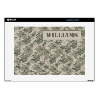 """Personalized ARMY ACU Camoflauge Computer Skin Skin For 15"""" Laptop"""