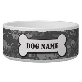 Personalized Army ACU Camouflage Dog Bowl