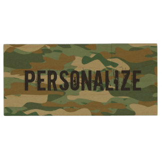 Personalized army camouflage USB pen flash drive Wood USB 2.0 Flash Drive