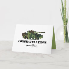 Personalized Army Passing Out Card