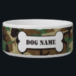 """Personalized Army Woodland Camouflage Dog Bowl<br><div class=""""desc"""">Pamper you dog with this unique Personalized Army Woodland Camouflage Dog Bowl. This unique ceramic dog bowl will look great when personalized with your pet&#39;s name.</div>"""