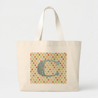 Personalized Art Letter C Large Tote Bag