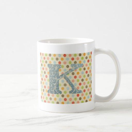 Personalized Art Letter K Mug