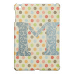 Personalized Art Letter M Case For The iPad Mini