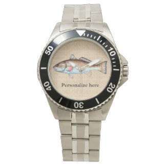 Personalized Artistic Redfish Wristwatch