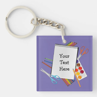 Personalized Artsy Craft Supplies Key Chain