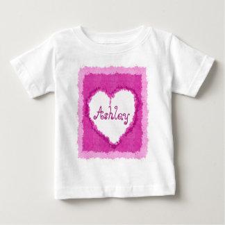 Personalized Ashley Watercolor Heart Shirt