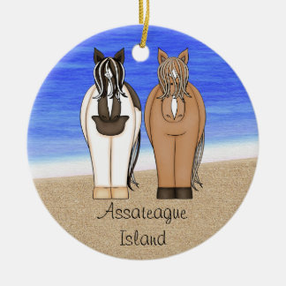 Personalized Assateague Island Ornament