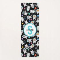 Personalized Astronaut Cats Outer Space Kittens Yoga Mat