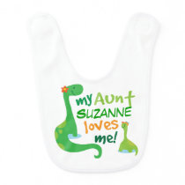 Personalized Aunt Loves Me Baby Bib