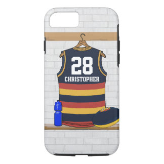 Personalized Aussie Rules Football Jersey BRY iPhone 8/7 Case