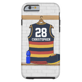 Personalized Aussie Rules Football Jersey BRY Tough iPhone 6 Case