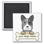 Personalized Australian Cattle Dog 2 Inch Square Magnet