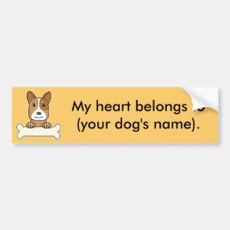 Personalized Australian Cattle Dog Car Bumper Sticker