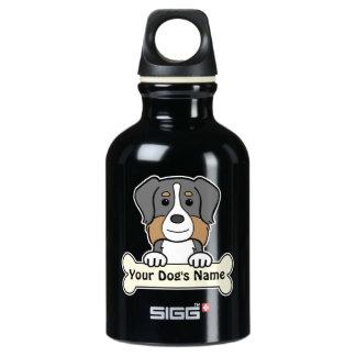 Personalized Australian Shepherd Aluminum Water Bottle