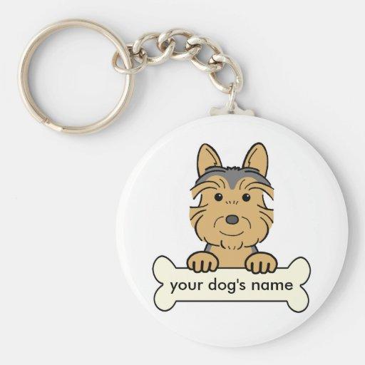 Personalized Australian Terrier Keychain
