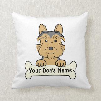Personalized Australian Terrier Throw Pillows