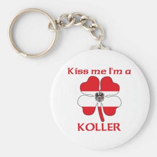 Personalized Austrian Kiss Me I'm Koller Keychain