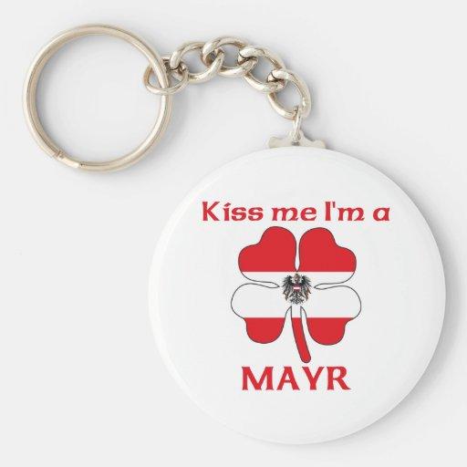 Personalized Austrian Kiss Me I'm Mayr Key Chain