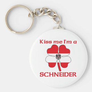 Personalized Austrian Kiss Me I'm Schneider Key Chains
