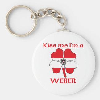 Personalized Austrian Kiss Me I'm Weber Keychains