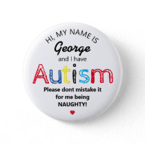 Personalized Autism Awarness | Funny ASD Button